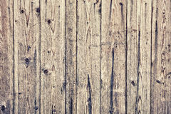 Η σύσταση της παλαιάς ξύλινης επένδυσης επιβιβάζεται στον τοίχο Στοκ Εικόνες