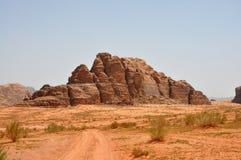 山在约旦,瓦地伦 免版税库存照片