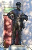 道格拉斯・麦克阿瑟将军雕象在诺福克,弗吉尼亚 库存照片