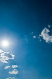 небо предпосылки солнечное Стоковое фото RF