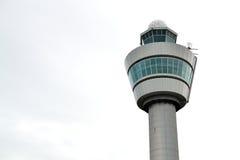 斯希普霍尔机场塔台在阿姆斯特丹 库存照片