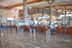 机场迷离背景  免版税库存照片