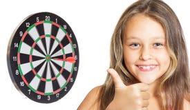 孩子和箭 免版税库存图片