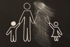 сломленная семья Стоковое фото RF
