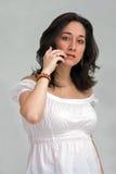 τηλεφωνική γυναίκα Στοκ εικόνες με δικαίωμα ελεύθερης χρήσης