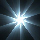 Ελαφριά φλόγα αστεριών πυξίδων οκτώ σημείου Στοκ Εικόνες