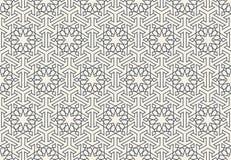 抽象无缝的几何伊斯兰教的墙纸样式 库存图片