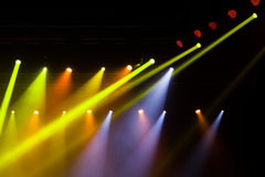 Света этапа на концерте Стоковые Изображения