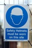 Знаки здоровья и безопасности строительной площадки Стоковое фото RF