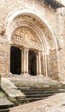 一个哥特式教会的入口 库存图片