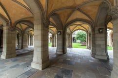 在墨尔本大学的老法律四边形,澳大利亚 免版税图库摄影