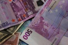 το ευρώ δολαρίων διαφορών σημειώνει το σύμβολο Στοκ Φωτογραφίες
