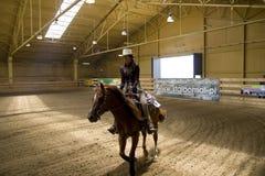 西部竞争的骑马 免版税库存照片