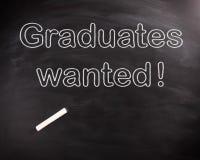 概念性毕业生想要在黑板的文本 库存照片