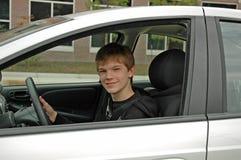 青少年的驾驶课 库存图片