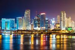 Горизонт города Майами времени простоя Стоковое Изображение RF