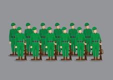 战士立正的传染媒介例证 免版税库存照片