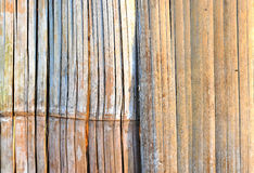 竹墙壁材料样式的抽象背景样式 免版税库存照片