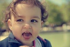 Βρώμικο κραυγάζοντας μωρό Στοκ Φωτογραφίες