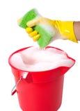 用桶提肥皂 库存照片