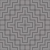 Γραπτό αφηρημένο γεωμετρικό σχέδιο παραίσθηση οπτική Στοκ Φωτογραφία