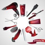 Концепция парикмахерской Стоковое Изображение RF