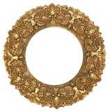 Картинная рамка золота круглая Стоковые Фото