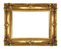 框架金子查出的图象白色 免版税库存照片