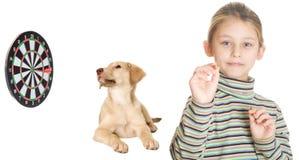 孩子和箭 免版税库存照片