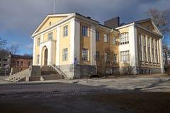 Παλαιό εξωτερικό βιβλιοθηκών Στοκ εικόνα με δικαίωμα ελεύθερης χρήσης