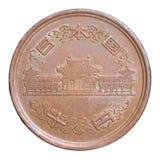 日元硬币 免版税库存照片