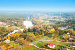 Ποταμός και επαρχία Στοκ Φωτογραφία