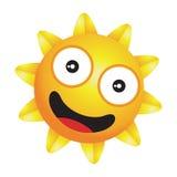 发光的矮小的愉快的太阳传染媒介 库存照片