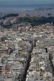 Κτήρια πόλεων στην Αθήνα Στοκ φωτογραφία με δικαίωμα ελεύθερης χρήσης