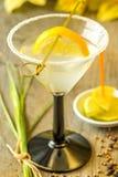 与柠檬切片的鸡尾酒 免版税库存图片