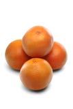 在白色背景-特写镜头的葡萄柚 库存照片