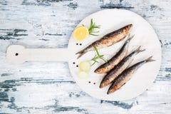 烤沙丁鱼 图库摄影