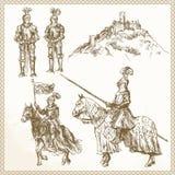 Ιππότες Μεσαίωνα Στοκ Εικόνες