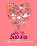 νέο ντους καρτών αγοριών μωρών γεννημένο Στοκ φωτογραφίες με δικαίωμα ελεύθερης χρήσης