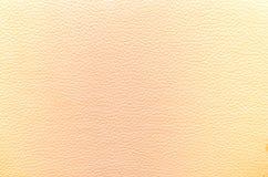 Кожаная желтая текстура для предпосылки Стоковая Фотография