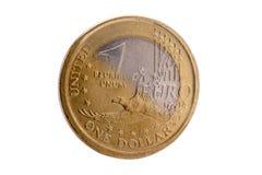 美元和欧元 免版税库存图片