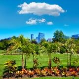波士顿共同的公园庭院和地平线 免版税库存照片