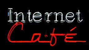 咖啡馆互联网 免版税库存图片