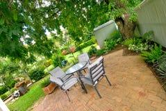 庭院使设置环境美化 免版税库存图片