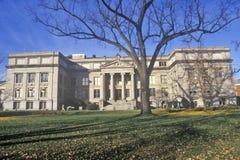在爱荷华大学的自然科学大厦,衣阿华市,衣阿华 免版税库存照片