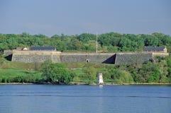 在波托马克河,堡垒华盛顿的春天国家公园,华盛顿特区, 免版税库存照片