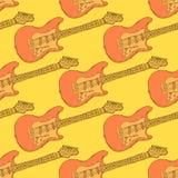 Музыкальный инструмент электрической гитары эскиза Стоковые Изображения RF