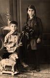 μαύρο εκλεκτής ποιότητας λευκό πορτρέτου εικόνας Στοκ Εικόνες