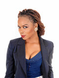 非洲裔美国人的美丽的妇女 免版税库存图片