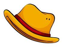 黄色帽子 免版税库存图片